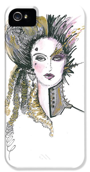 Steampunk Watercolor Fashion Illustration IPhone 5 Case