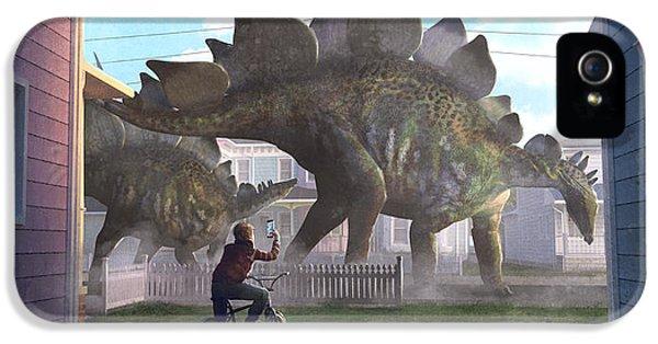 Stegosaurus IPhone 5 Case by Guillem H Pongiluppi