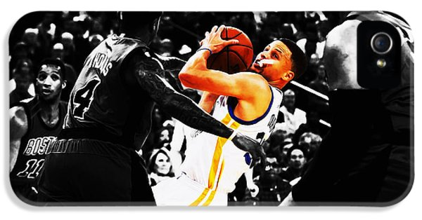 Stephen Curry Stay Focused IPhone 5 Case by Brian Reaves