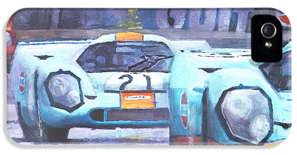 Legends iPhone 5 Case - Steve Mcqueen Le Mans Porsche 917 01 by Yuriy Shevchuk