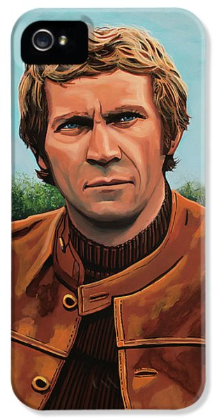 Steve Mcqueen Painting IPhone 5 Case by Paul Meijering