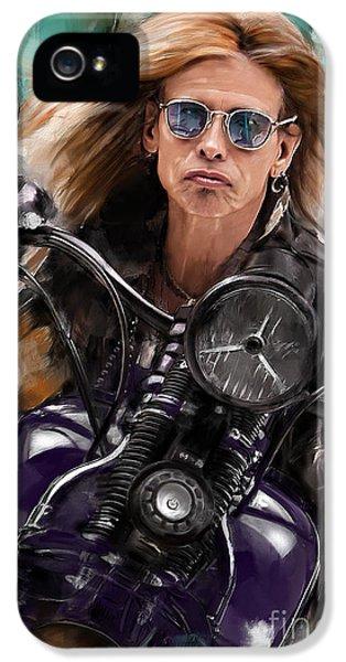 Steven Tyler iPhone 5 Case - Steven Tyler On A Bike by Melanie D