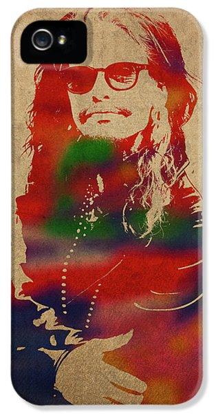 Steven Tyler iPhone 5 Case - Steven Tyler Watercolor Portrait Aerosmith by Design Turnpike