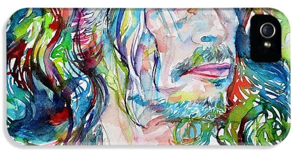 Steven Tyler iPhone 5 Case - Steven Tyler - Watercolor Portrait by Fabrizio Cassetta