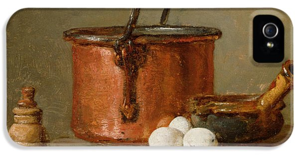 Still Life iPhone 5 Case - Still Life by Jean-Baptiste Simeon Chardin