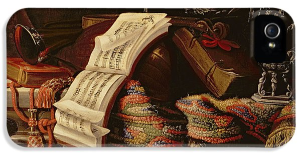 Still Life With A Book Of Sheet Music IPhone 5 Case by Francesco Fieravino
