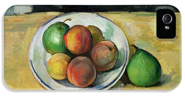 Still Life With A Peach And Two Green Pears IPhone 5 Case by Paul Cezanne