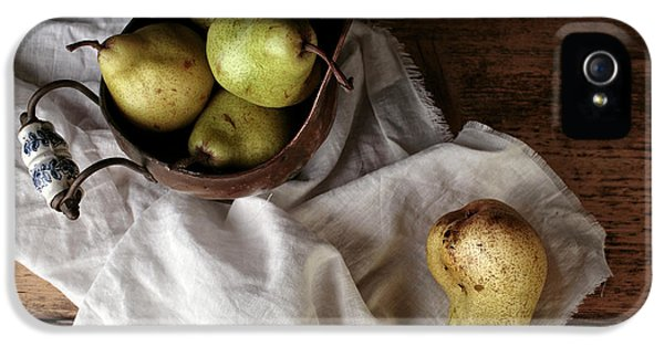Still-life With Arrangement Of Pears  IPhone 5 Case by Nailia Schwarz