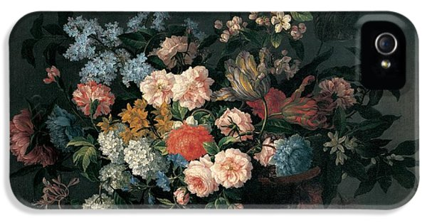 Still Life With Basket Of Flowers IPhone 5 Case