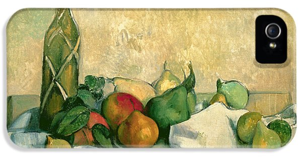 Still Life With Bottle Of Liqueur IPhone 5 Case by Paul Cezanne