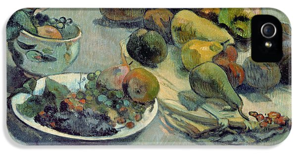 Still Life With Fruit IPhone 5 Case by Paul Gauguin