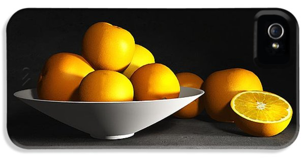 Still Life With Oranges IPhone 5 Case by Cynthia Decker