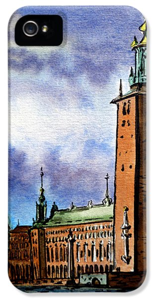 Dramatic Skies iPhone 5 Cases - Stockholm Sweden iPhone 5 Case by Irina Sztukowski