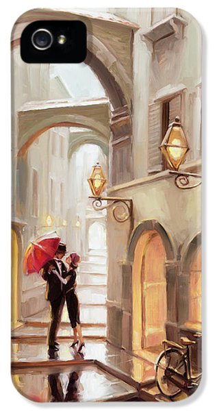 Town iPhone 5 Case - Stolen Kiss by Steve Henderson
