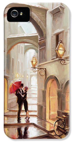 Impressionism iPhone 5 Case - Stolen Kiss by Steve Henderson