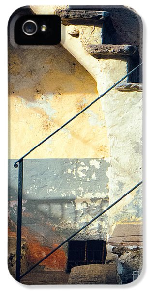 IPhone 5 Case featuring the photograph Stone Steps Outside An Old House by Silvia Ganora