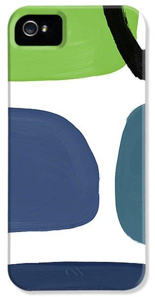 Stones 7- Modern Art By Linda Woods IPhone 5 Case by Linda Woods