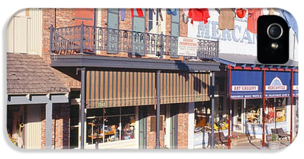 Store Fronts, Angels Camp, California IPhone 5 Case by Panoramic Images