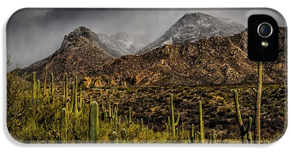 Storm Over Catalinas 15 IPhone 5 Case by Mark Myhaver