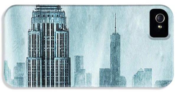 Empire State Building iPhone 5 Case - Storm Troopers by Az Jackson