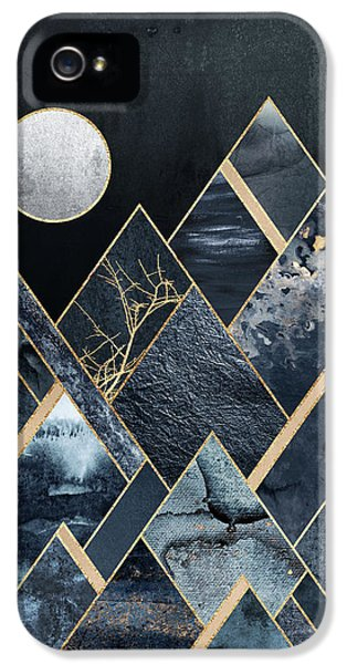 Moon iPhone 5 Case - Stormy Mountains by Elisabeth Fredriksson