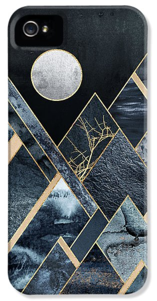 Mountain iPhone 5 Case - Stormy Mountains by Elisabeth Fredriksson