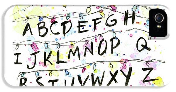 Stranger Things Alphabet Christmas Lights IPhone 5 Case