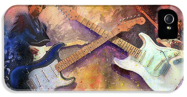 Eric Clapton iPhone 5 Case - Strat Brothers by Andrew King
