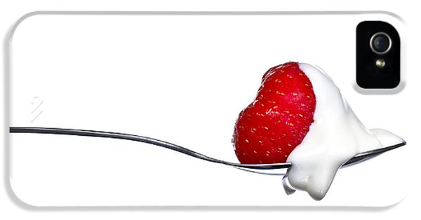 Strawberry And Cream IPhone 5 Case by Gert Lavsen