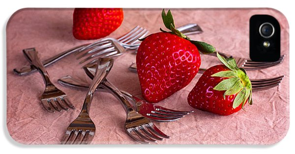 Strawberry Delight IPhone 5 Case by Tom Mc Nemar