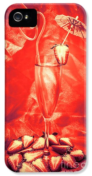 Straweberry Tropical Cocktail Drink IPhone 5 Case by Jorgo Photography - Wall Art Gallery