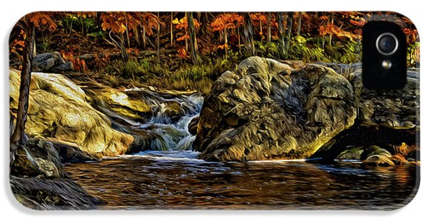 Stream In Autumn 57 In Oil IPhone 5 Case by Mark Myhaver