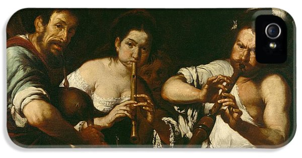 Trio iPhone 5 Cases - Street Musicians iPhone 5 Case by Bernardo Strozzi