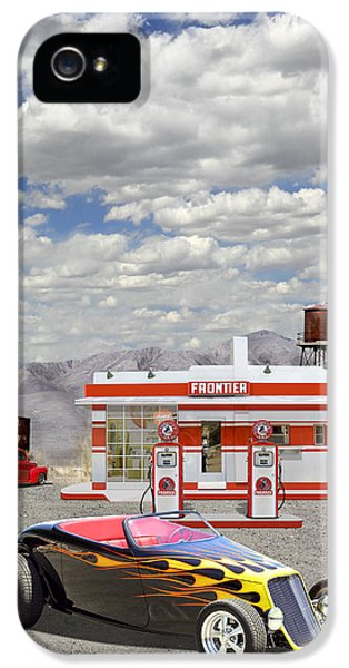 Street Rod At Frontier Station IPhone 5 Case by Mike McGlothlen