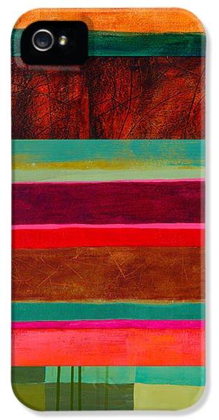 Stripe Assemblage 1 IPhone 5 / 5s Case by Jane Davies