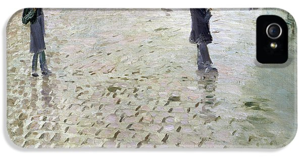 Study For A Paris Street Rainy Day IPhone 5 Case by Gustave Caillebotte