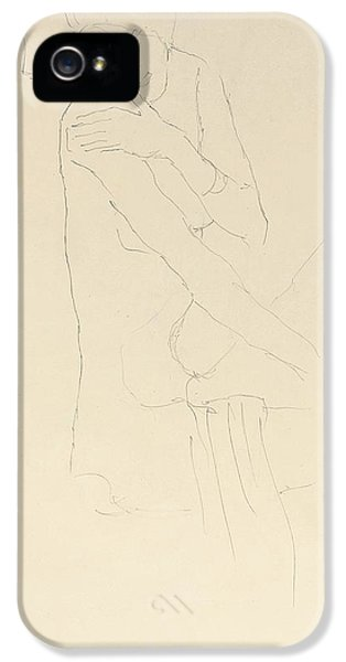 Study For Adele Bloch Bauer II IPhone 5 Case by Gustav Klimt