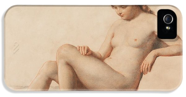 Contemplative iPhone 5 Cases - Study of a Nude iPhone 5 Case by William Mulready