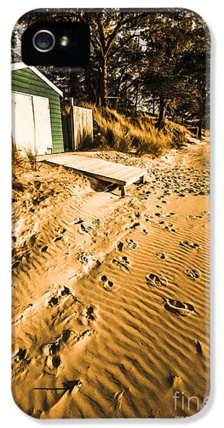Summer Beach Shacks IPhone 5 Case