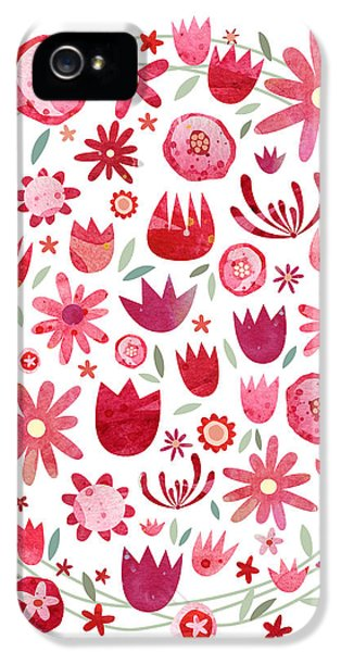 Summer Flower Circle IPhone 5 / 5s Case by Nic Squirrell