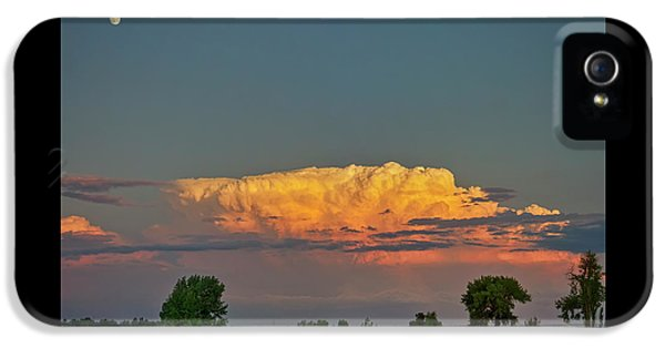 IPhone 5 Case featuring the photograph Summer Night Storms Brewing And Moon Above by James BO Insogna
