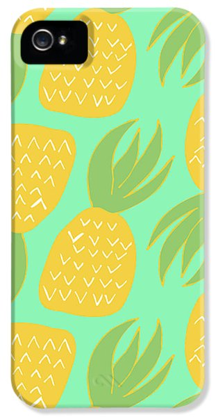 Summer Pineapples IPhone 5 Case by Allyson Johnson