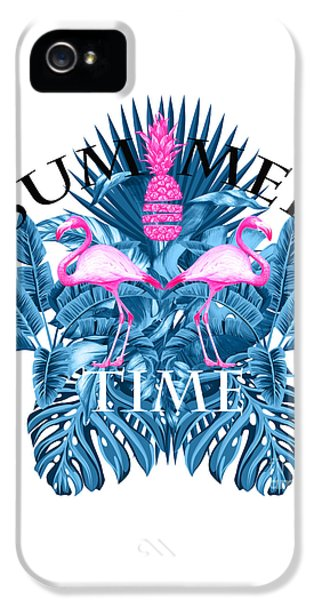 Summer Time Tropical  IPhone 5 Case by Mark Ashkenazi