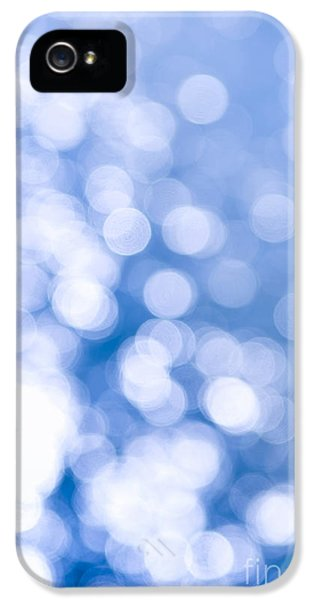 Blue iPhone 5 Cases - Sun reflections on water iPhone 5 Case by Elena Elisseeva