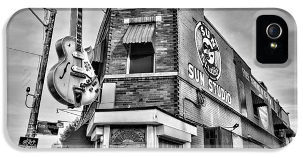 Johnny Cash iPhone 5 Case - Sun Studio - Memphis #2 by Stephen Stookey