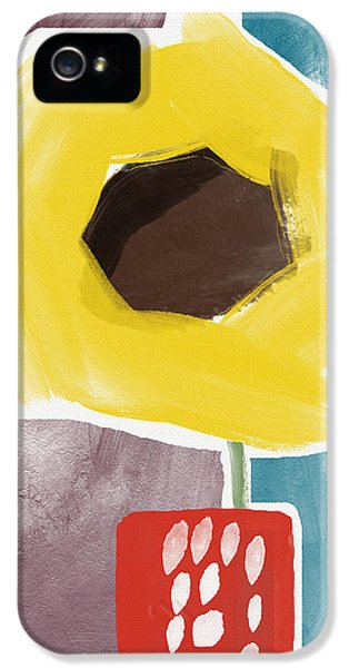 Sunflower iPhone 5 Case - Sunflower In A Small Vase- Art By Linda Woods by Linda Woods