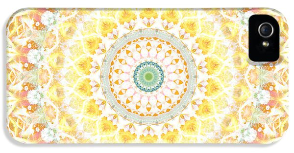Sunflower Mandala- Abstract Art By Linda Woods IPhone 5 Case by Linda Woods