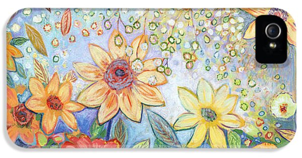 Sunflower iPhone 5 Case - Sunflower Tropics by Jennifer Lommers