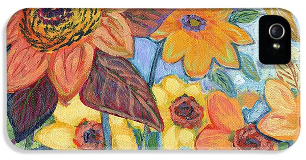 Sunflower iPhone 5 Case - Sunflower Tropics Part 1 by Jennifer Lommers