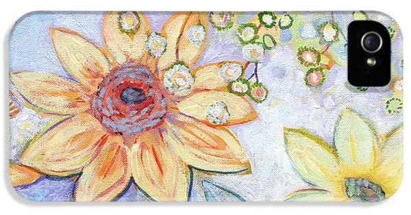 Sunflower iPhone 5 Case - Sunflower Tropics Part 2 by Jennifer Lommers